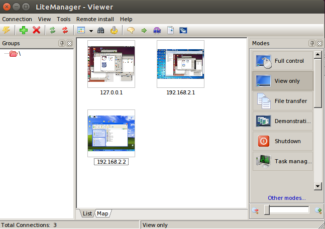 LiteManager Linux Ubuntu (Wine viewer)